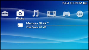 PSP Firmware GUI PSD