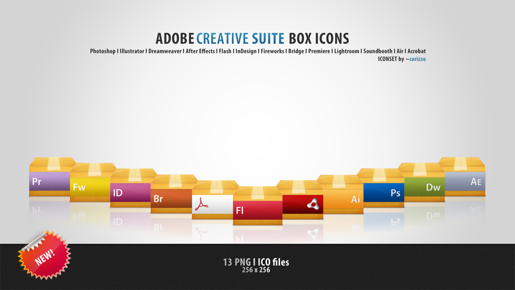 Adobe Box Icons by carizzo