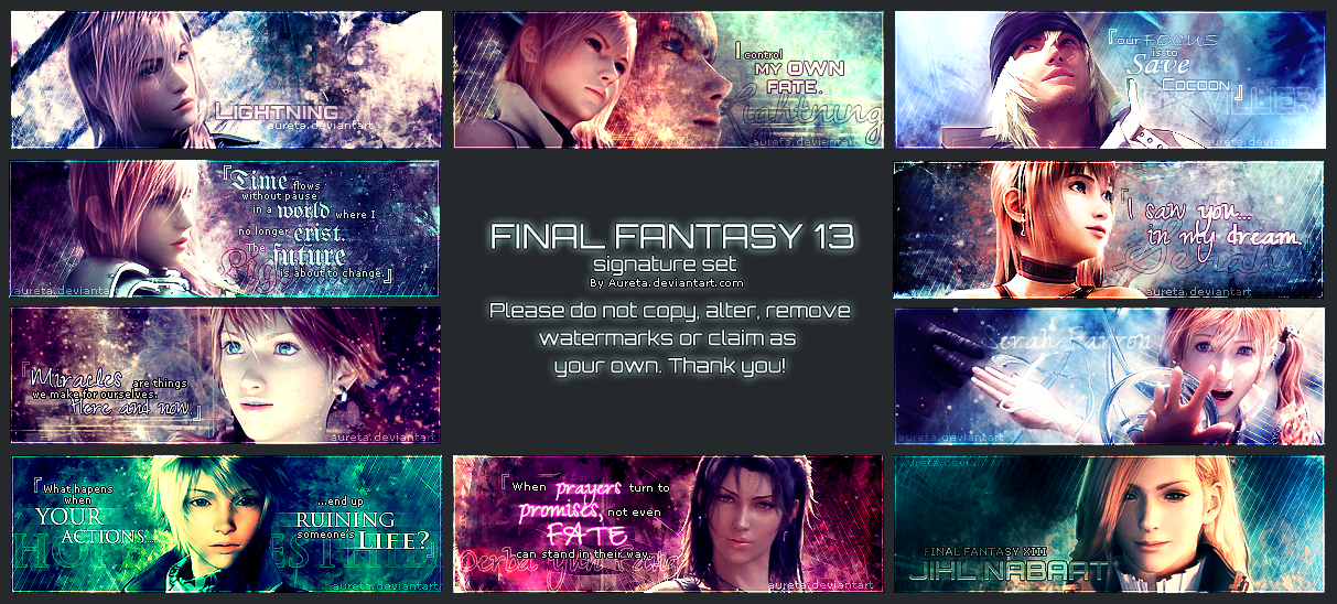 FFXIII Signatures by Aureta