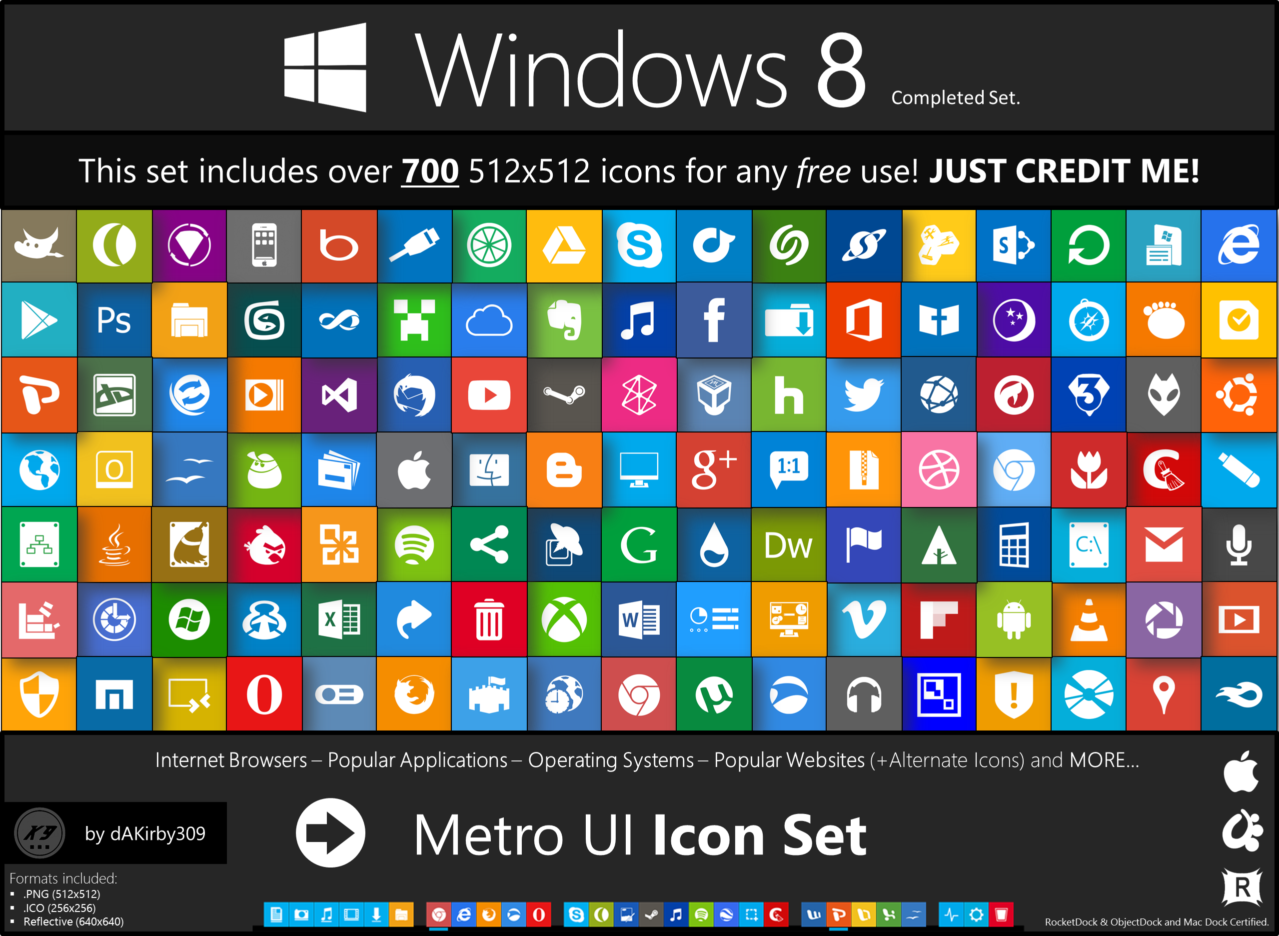 Metro UI Icon Set - 725 Icons