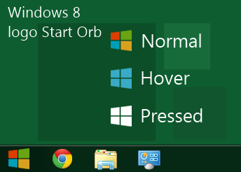 Windows 8 logo Start Orb