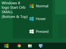 Windows 8 logo Start Orb SMALL Top and Bottom