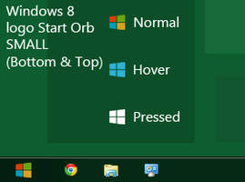 Windows 8 logo Start Orb SMALL Top and Bottom
