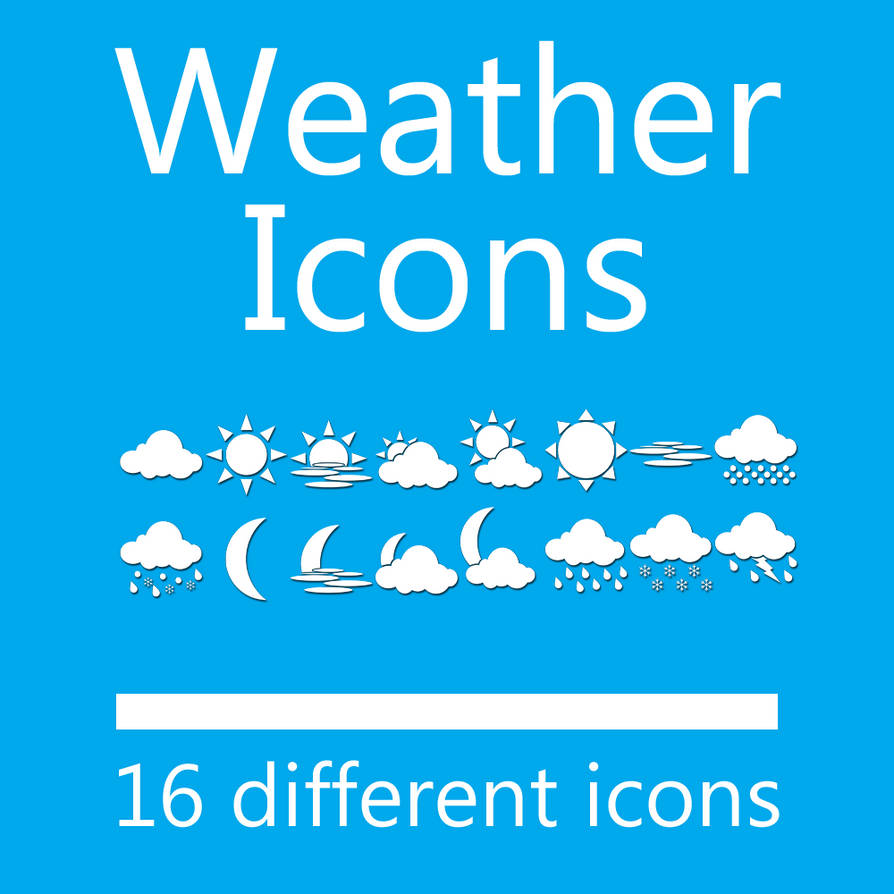 Weather Dock Icon Set - 16 Icons 512px by dAKirby309