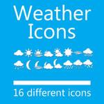 Weather Dock Icon Set - 16 Icons 512px