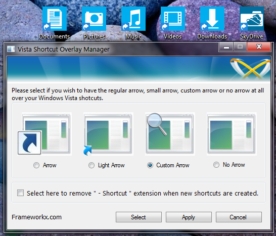 how to change desktop shortcut