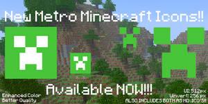 NEW Minecraft Metro Dock Icons (Updated Style)