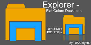 Windows Explorer DOCK ICON - Flat Colors
