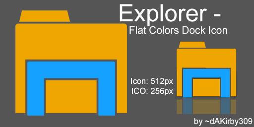 Windows Explorer DOCK ICON - Flat Colors by dAKirby309