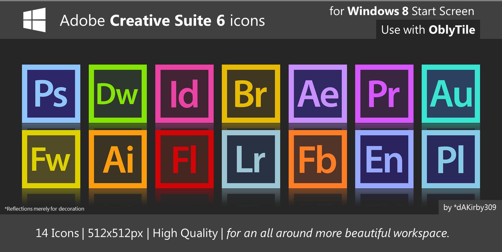 HQ Adobe CS6 Icons by dAKirby309