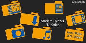Standard OS Folders DOCK ICONS - Flat Colors