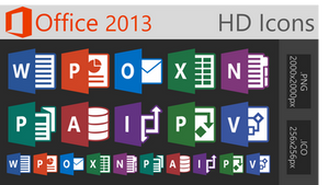 Office 2013 HD Icons - (LARGE)