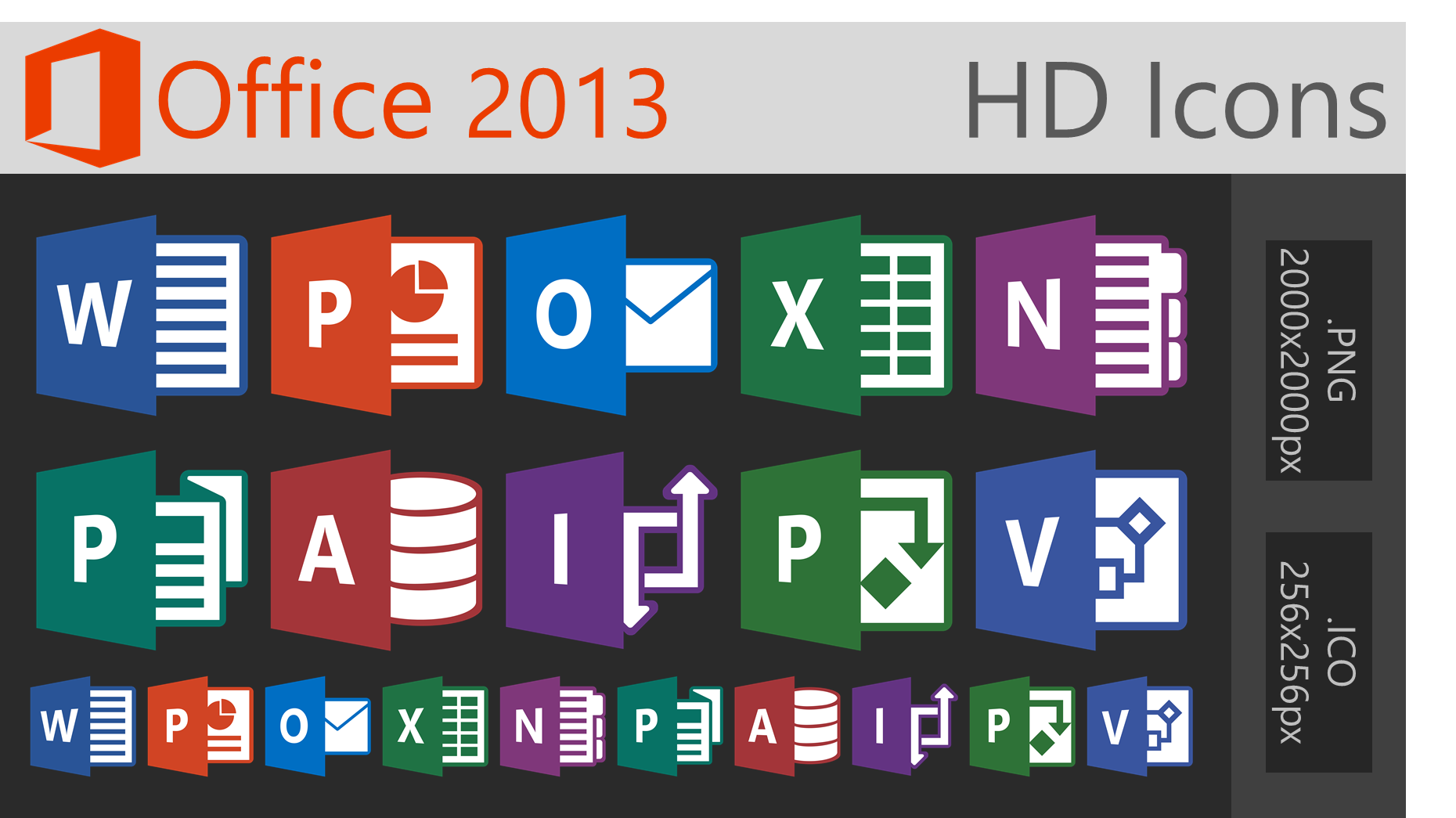 office 2013 hd icons large by dakirby309 watch customization icons ...
