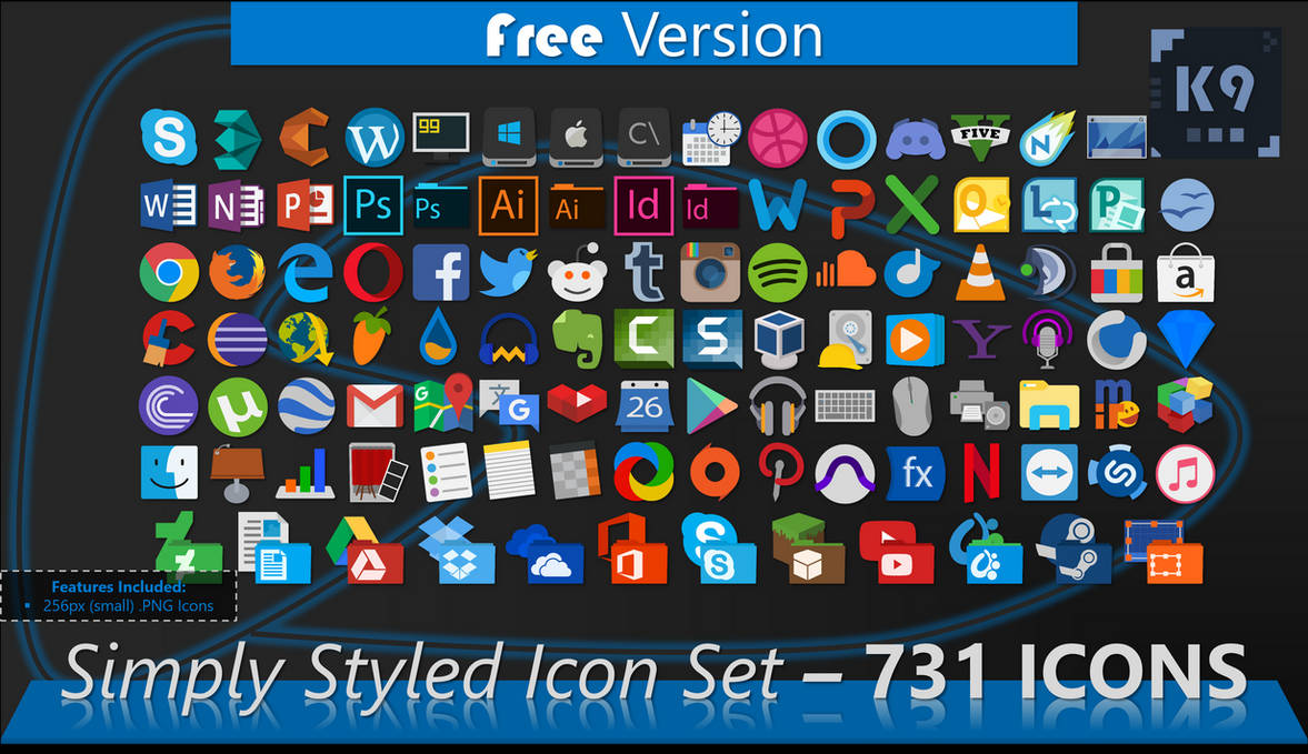 Simply Styled Icon Set - 731 Icons | [FREE]