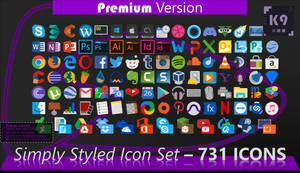 Simply Styled Icon Set - 731 Icons | [PREMIUM HD]