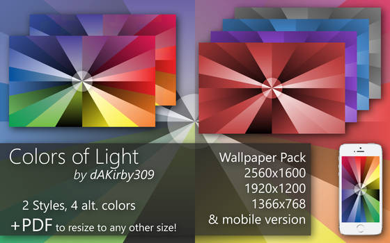 Colors of Light - Wallpaper Pack + Vector
