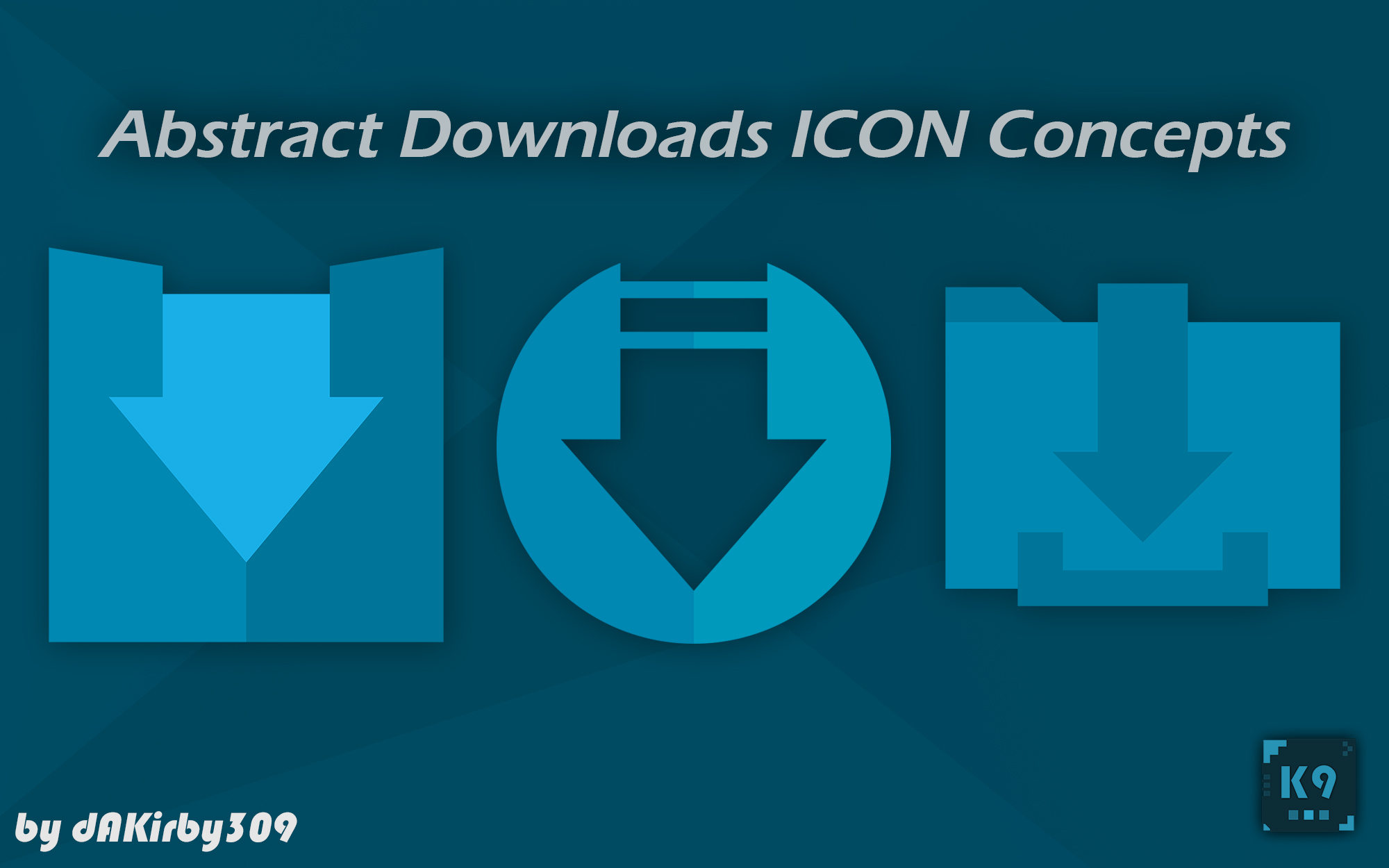 Abstract Downloads Icon Concepts - 3 HD Icons