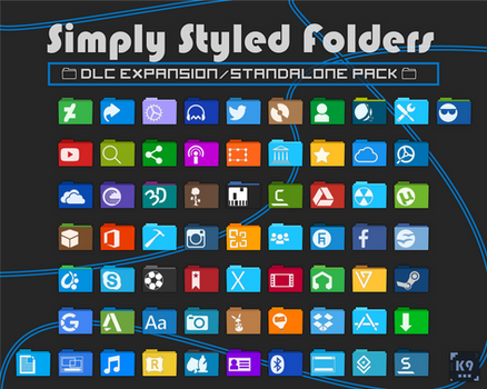 Simply Styled Folders - Expansion Pack - 65 Icons