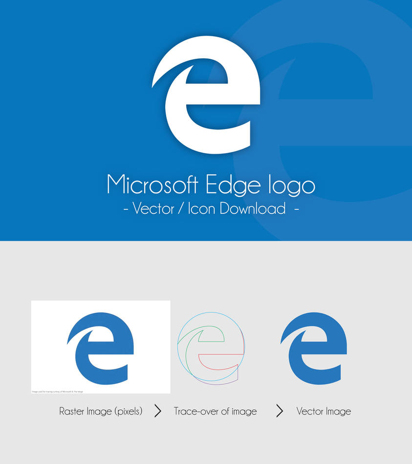 Microsoft Edge Logo - Icon and Vector Download by dAKirby309 on