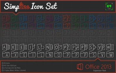 Simpline Icon Set - Office 2013 Expansion