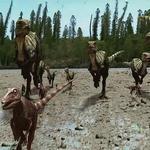 Timimus And Qantassaurus Running