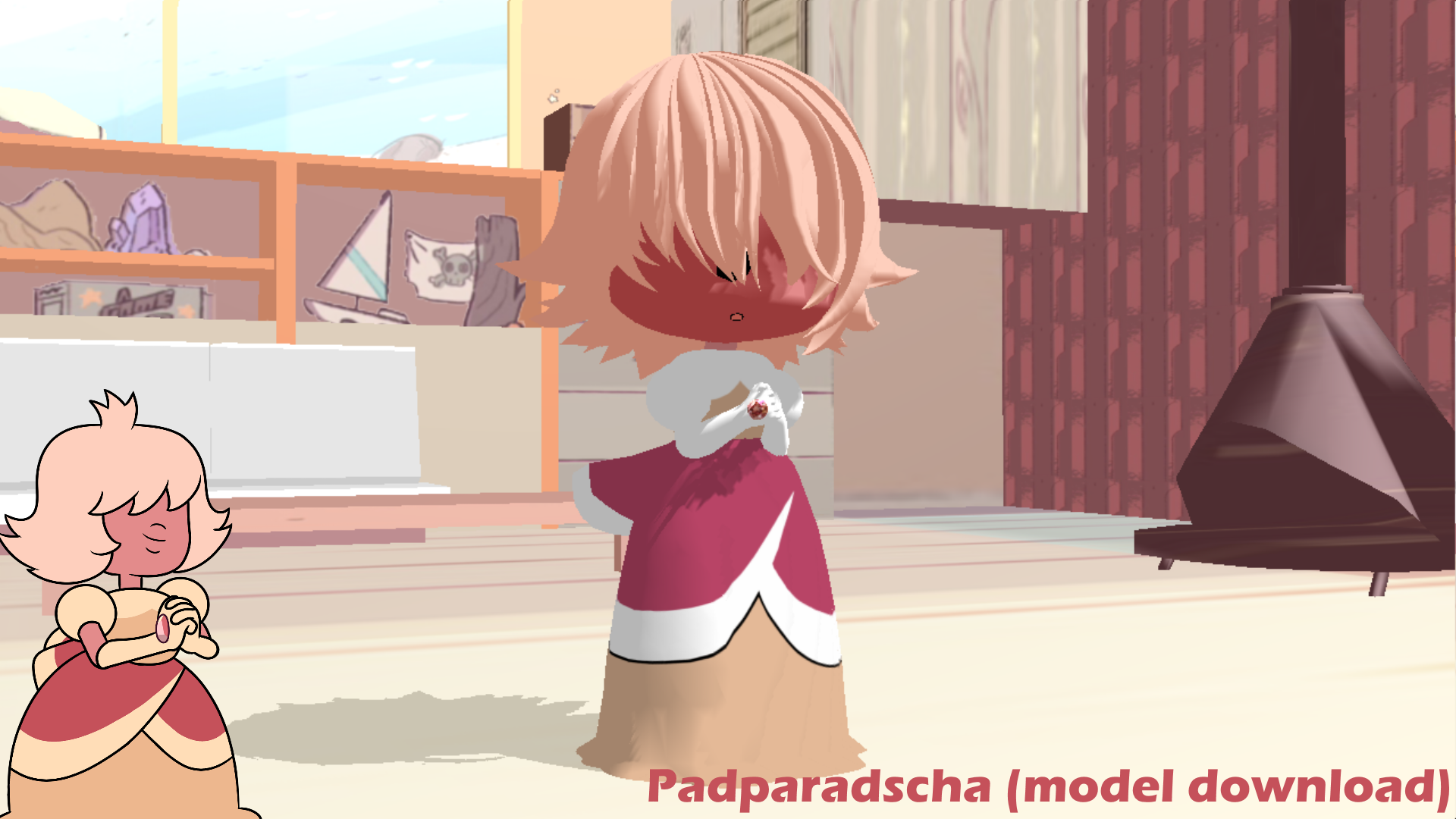 MMD Padparadscha sapphire (Model download) by VOCAD
