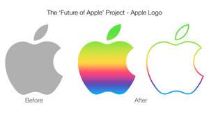 Colorful Apple Logo Concept