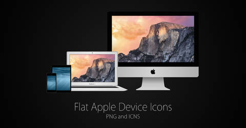 Flat Apple Device Icons (PNG and ICNS)