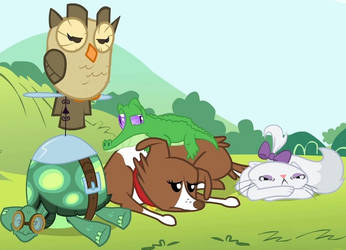 My Little Pony FIM bored-pets *animation*