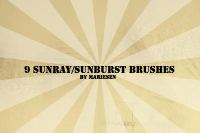 Brushes: Sunray by Mariesen