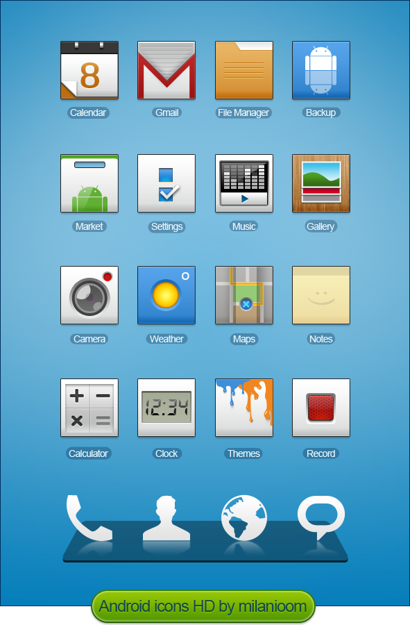 Android HD icons by milanioom