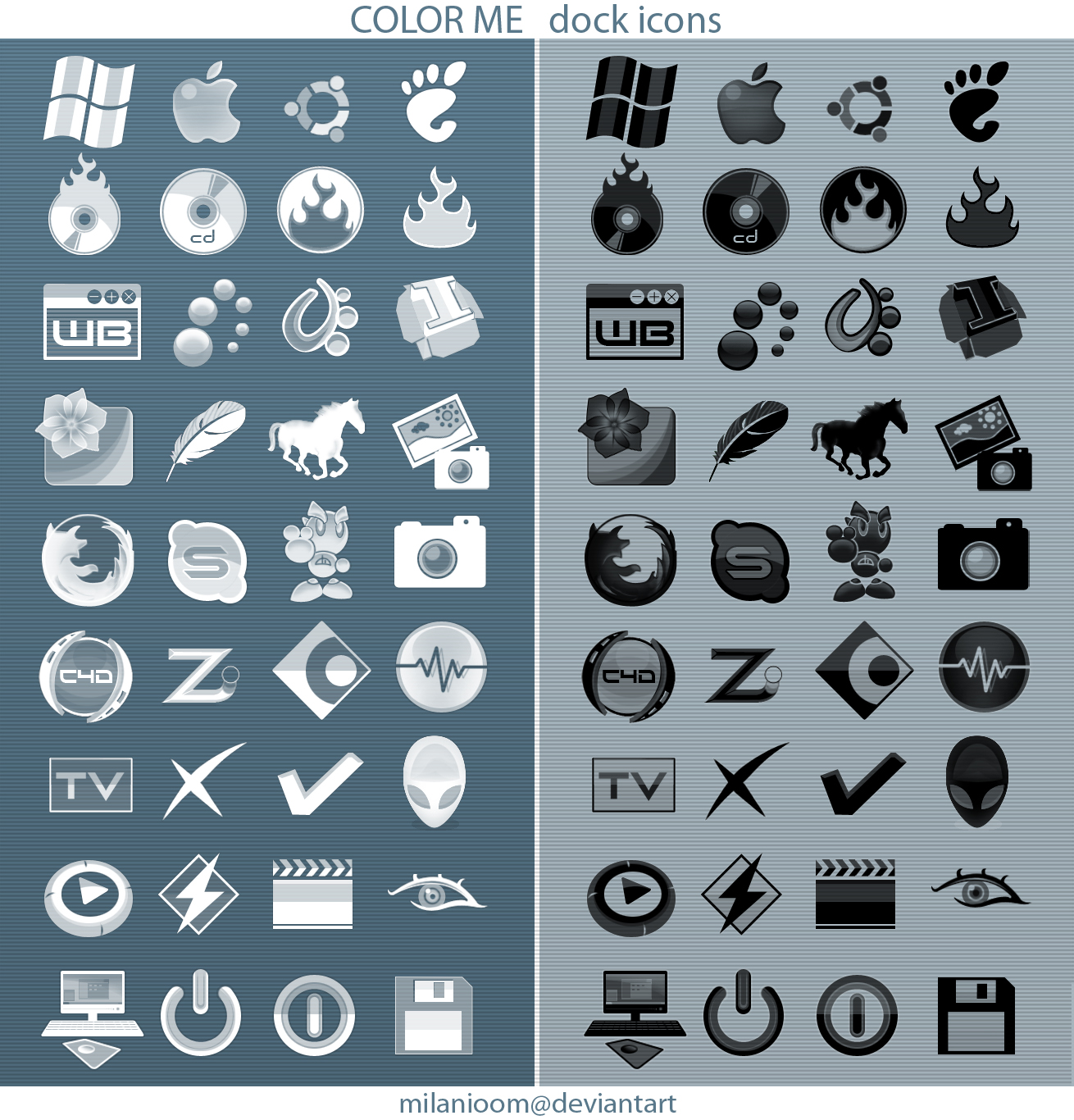 Color Me_dock icons