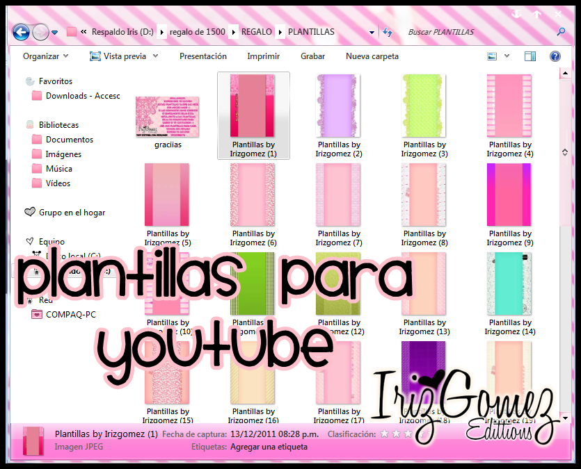 Plantillas para Youtube/Templates to the youtube by IrizGomez on ...