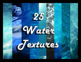 25 Water Textures by EvilHateYouAllStock