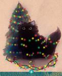 Happy Holidays Cat