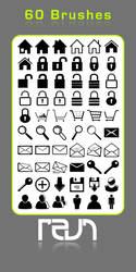 Web Icons Brushes by revn89