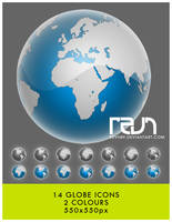 Globes Icons by revn89