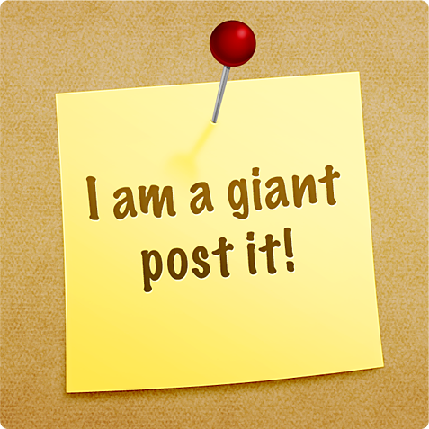 I am a giant post'it: PSD by kevinandersson