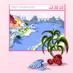 Pixel Animation : Martigues.gif