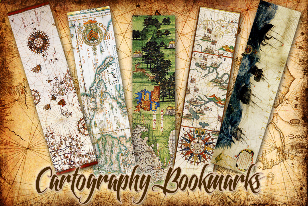 Cartography bookmarks by auRoraBor