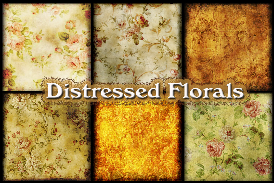 Distressed Florals by auRoraBor