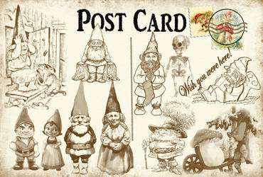 Postcard from a gnome! by auRoraBor