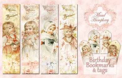 Maud Humphrey Birthday Bookmarks by auRoraBor