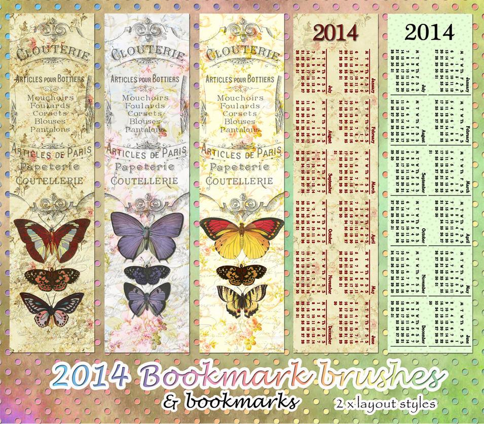 Calendar Bookmark : Calendar bookmarks by aurorabor on deviantart