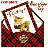 Envelope tag template