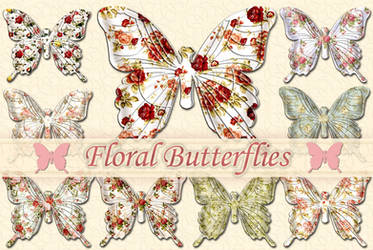 Floral Butterflies by auRoraBor