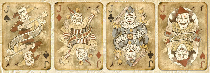 Clown playing cards