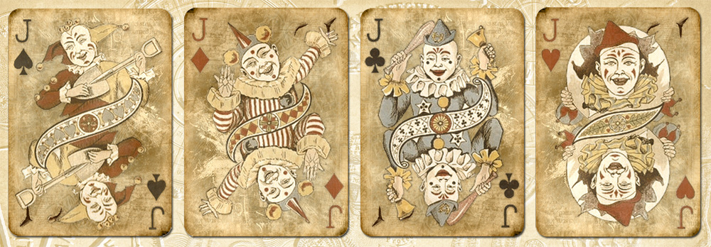 Clown playing cards by auRoraBor