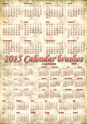 2015 Calendar brushes by auRoraBor