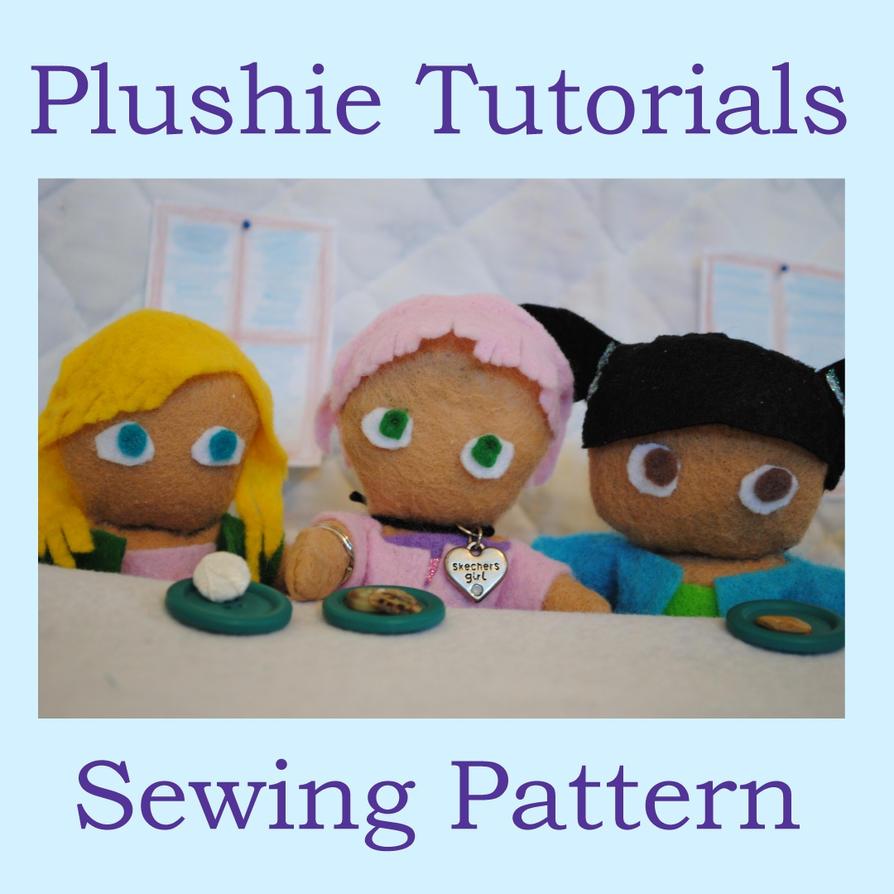 felt plushie templates - plushie tutorials sewing pattern by misslunarose